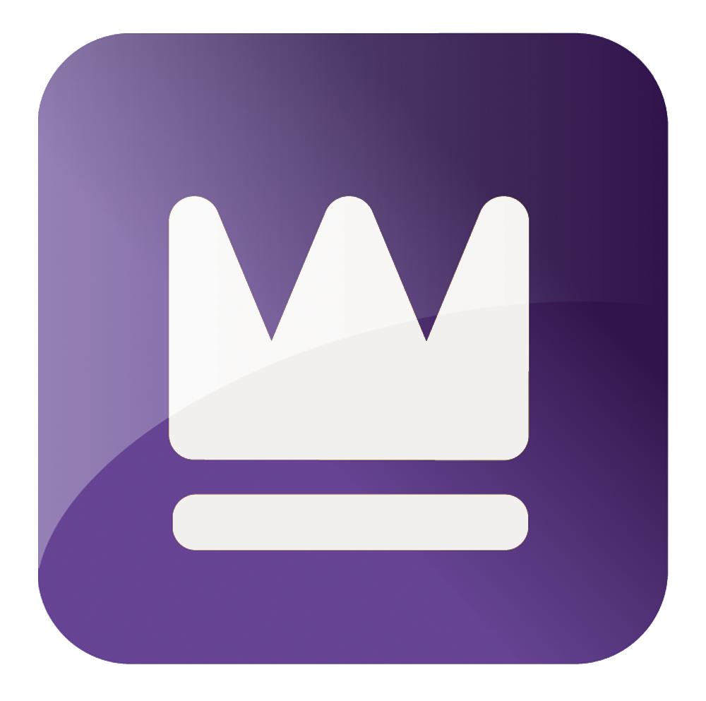 couronne blanche et violette