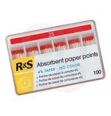 Pointes de papier ISO TAPER 4% N°20 30MM - La boîte de 100 pointes