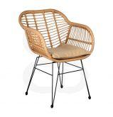 Chaise en polyrésine et métal - La chaise