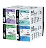Sutures Perma-Sharp Soie - La boîte de 12 Unités Fil 4/0 - 1/2 Cercle