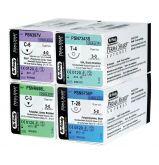 Sutures Perma-Sharp Acide Polyglycolique (Pga) Teint - La boîte de 12 Unités - Fil 4/0 C-22